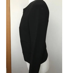 Chloé Black Jacket in Blended Viscose and Acetate with 4 Pockets and 100% Silk Lining Size 34 (EU)