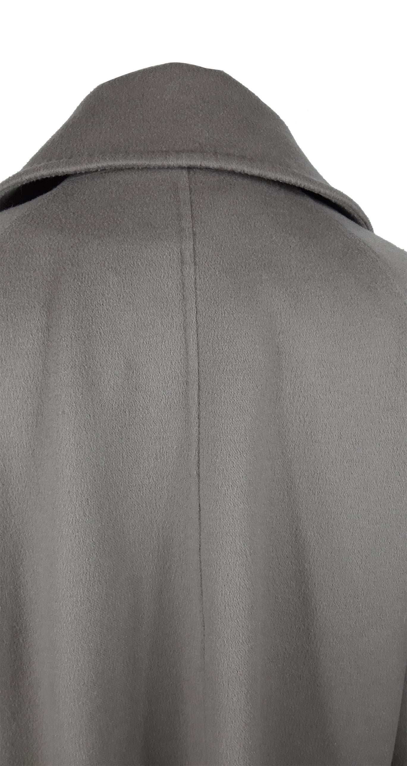 MAX MARA Grey 90% Virgin Wool 10% Cashmere Mid Size Cape Style Jacket Size 38(EU)