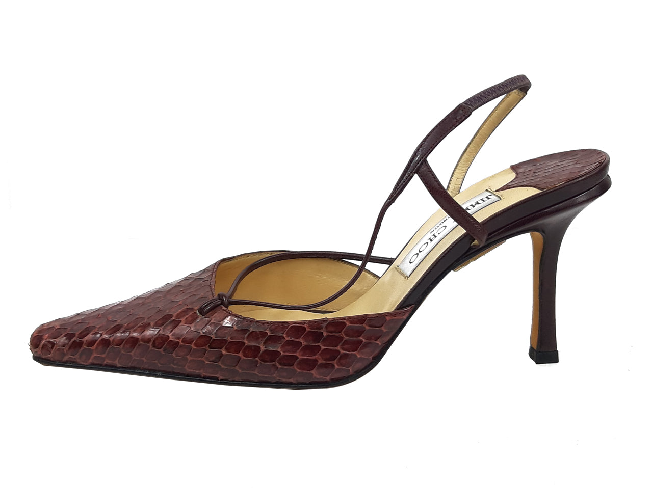 Manolo Blahnik Exotic Leather Brown Sandals Size 37 (EU)
