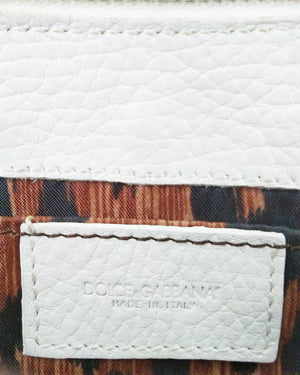 D&G White Leather Clutch