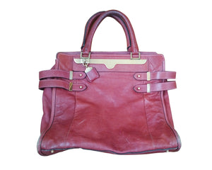 Chloé Leather Bag in Bordeaux