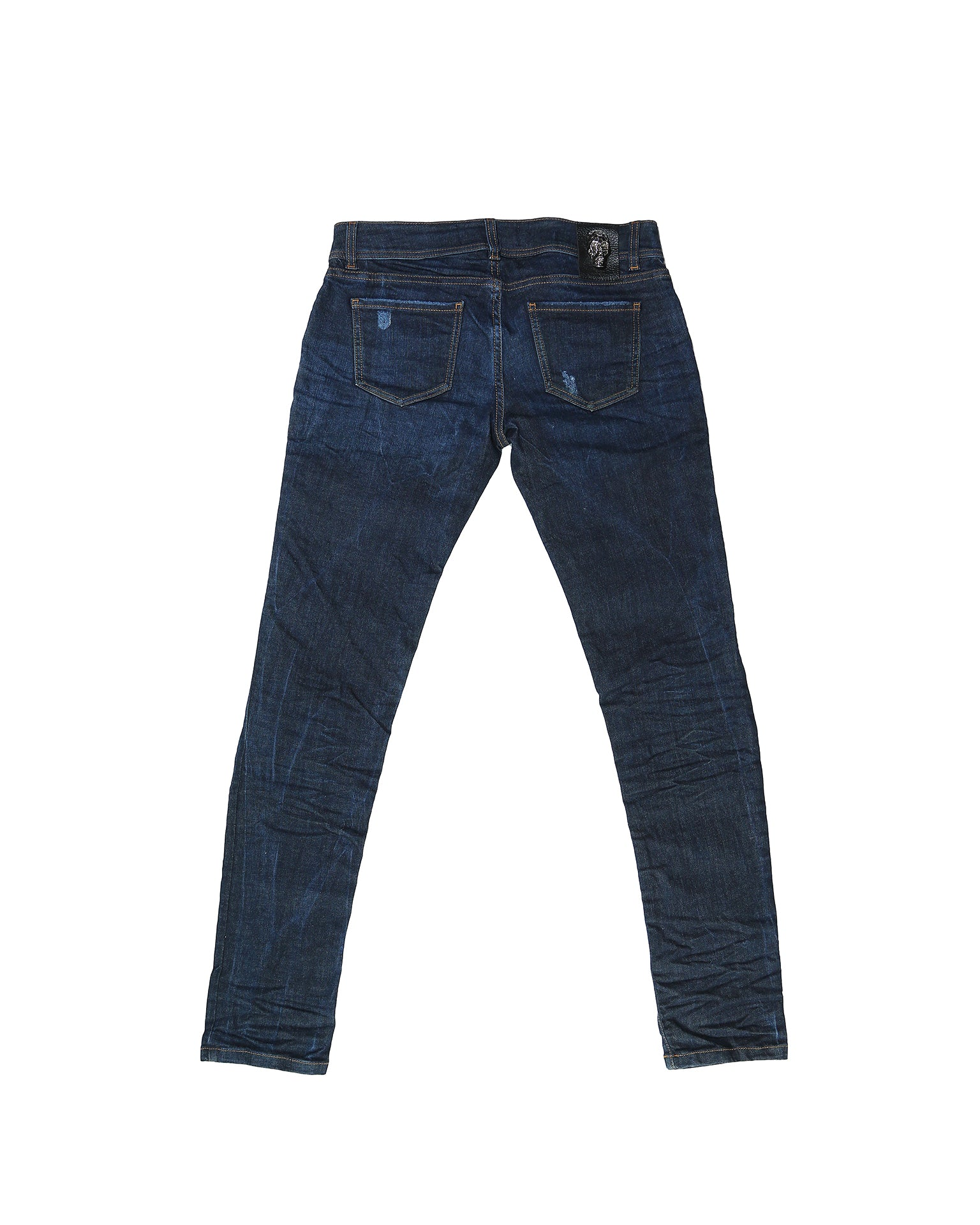 Philipp Plein Blue Denim Trousers Slim Fit