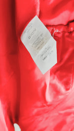 Carolina Herrera Red Shiny Blazer with Golden Details and Front Pockets Size 40 (EU)