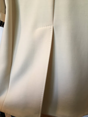 DOLCE & GABBANA White Long Wool Coat Size 42 (EU) 46 (IT)