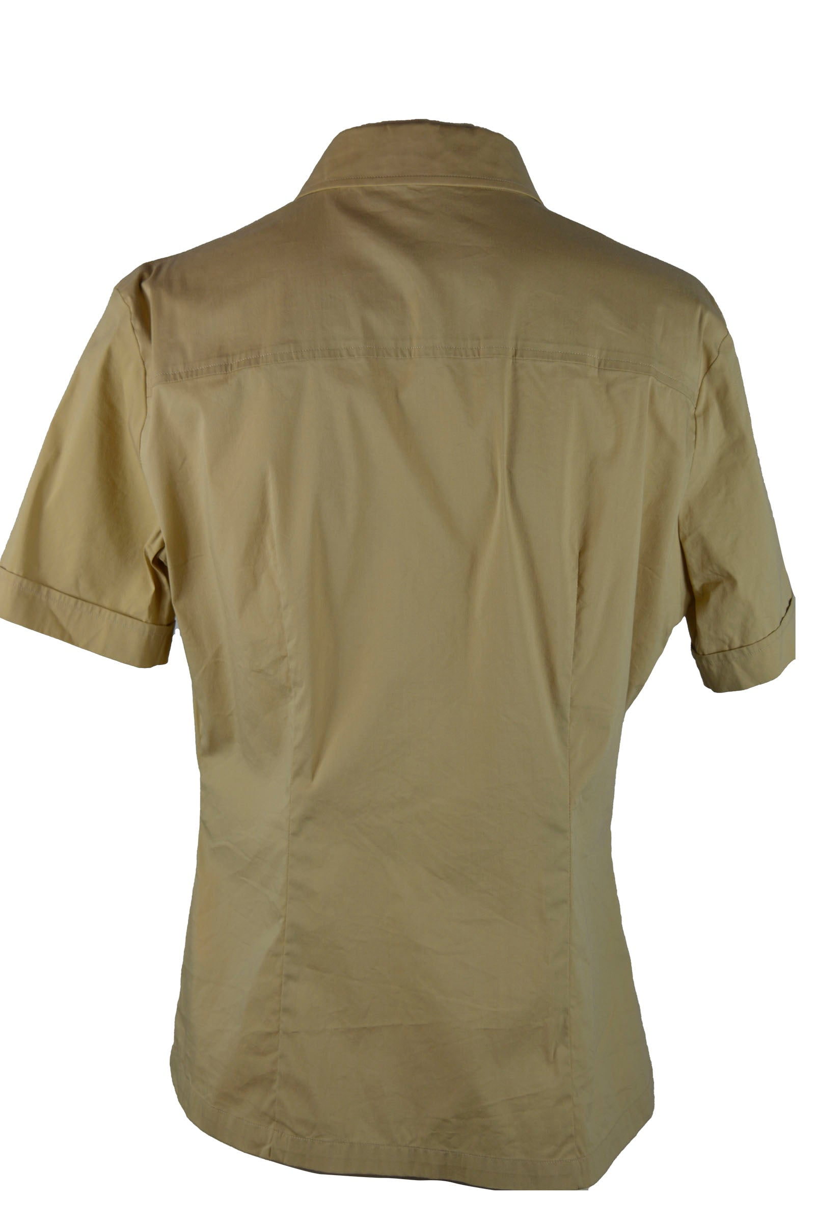 Burberry Beige Short Sleeved Shirt with Embroidered Pocket Size 40 (EU)