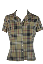 Burberry Vintage Check Pattern Shirt with Elastane Size 40 (EU)