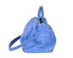 Christian Dior Blue Tote Bag with Three Compartments