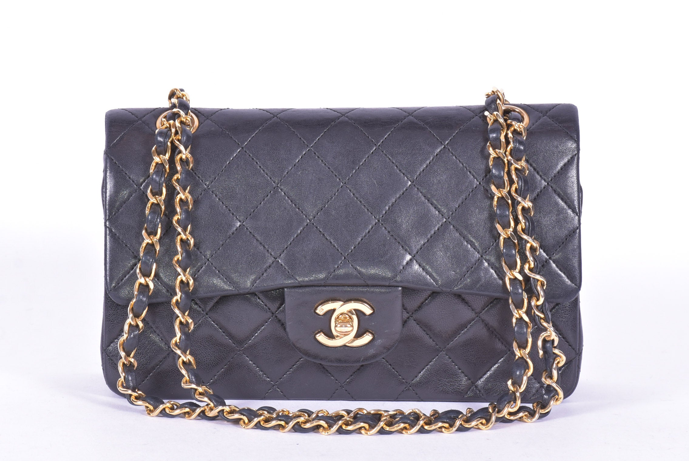 Chanel Vintage Double Flap Bag in Black