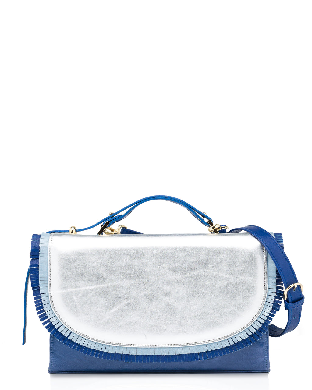 MANJERICA GARDENIA BLUE SEA Crossbody Bag or Clutch Bag (detachable strap, it can be used both ways)