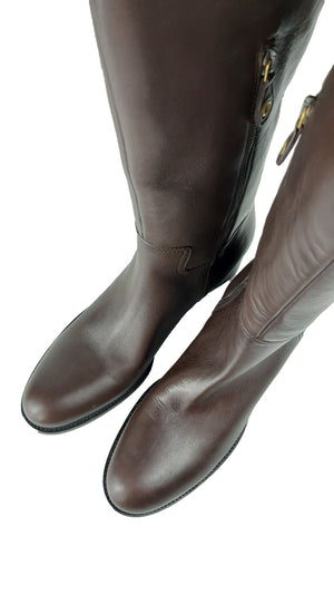 Car Shoe Brown Mid Heel Boots size 40  (EU)