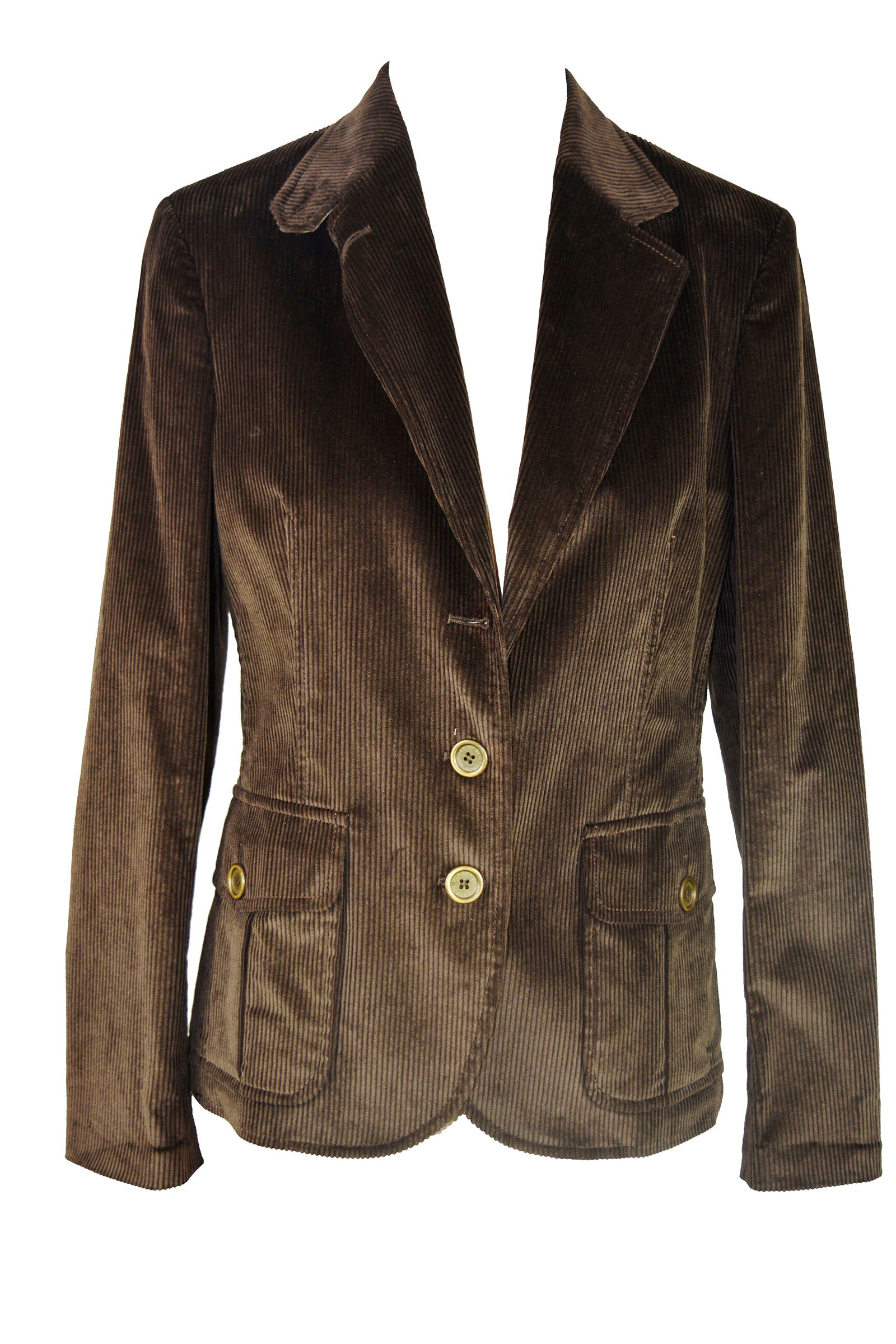 Burberry Brown Blazer in Corduroy Size 42 (EU)