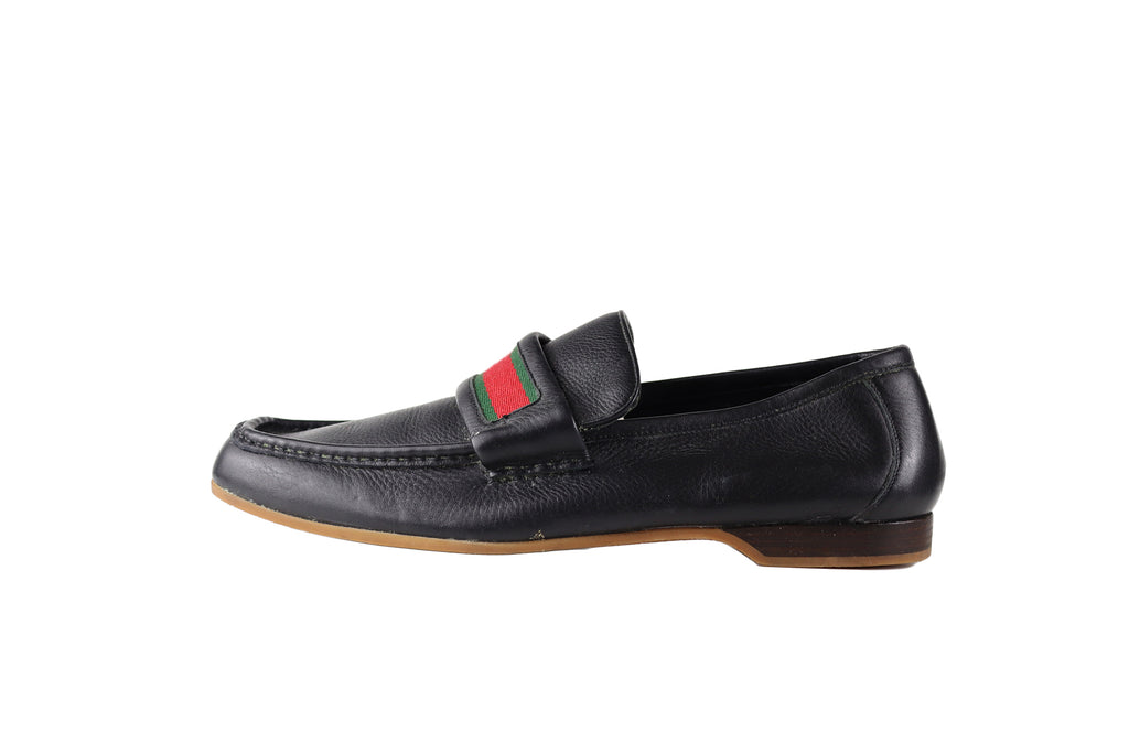 Gucci Blue Soft Leather Loafers Men Size 44 (EU) 10 (UK)