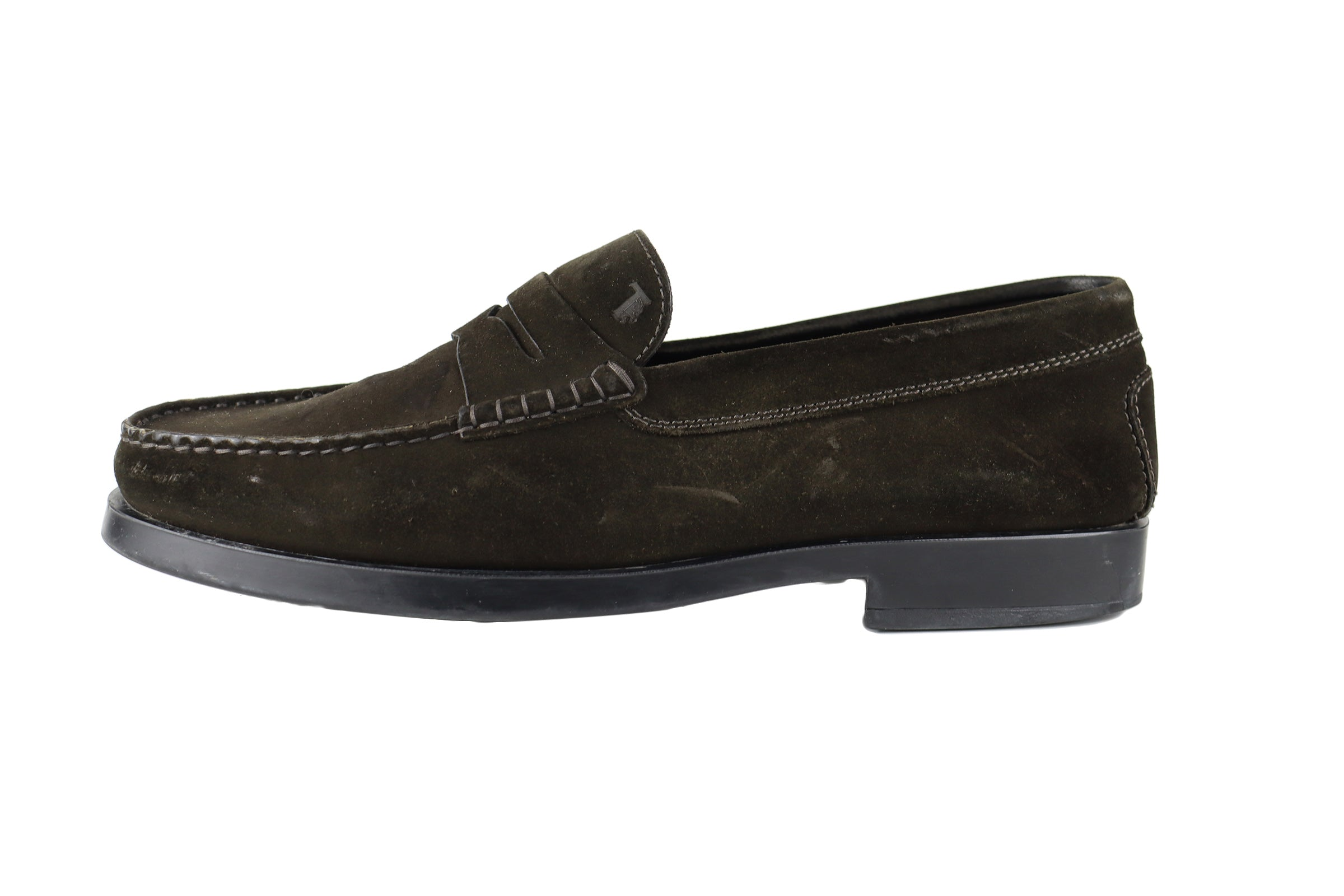 Tod's Green Suede Mocassins Men Size 44,5 (EU)