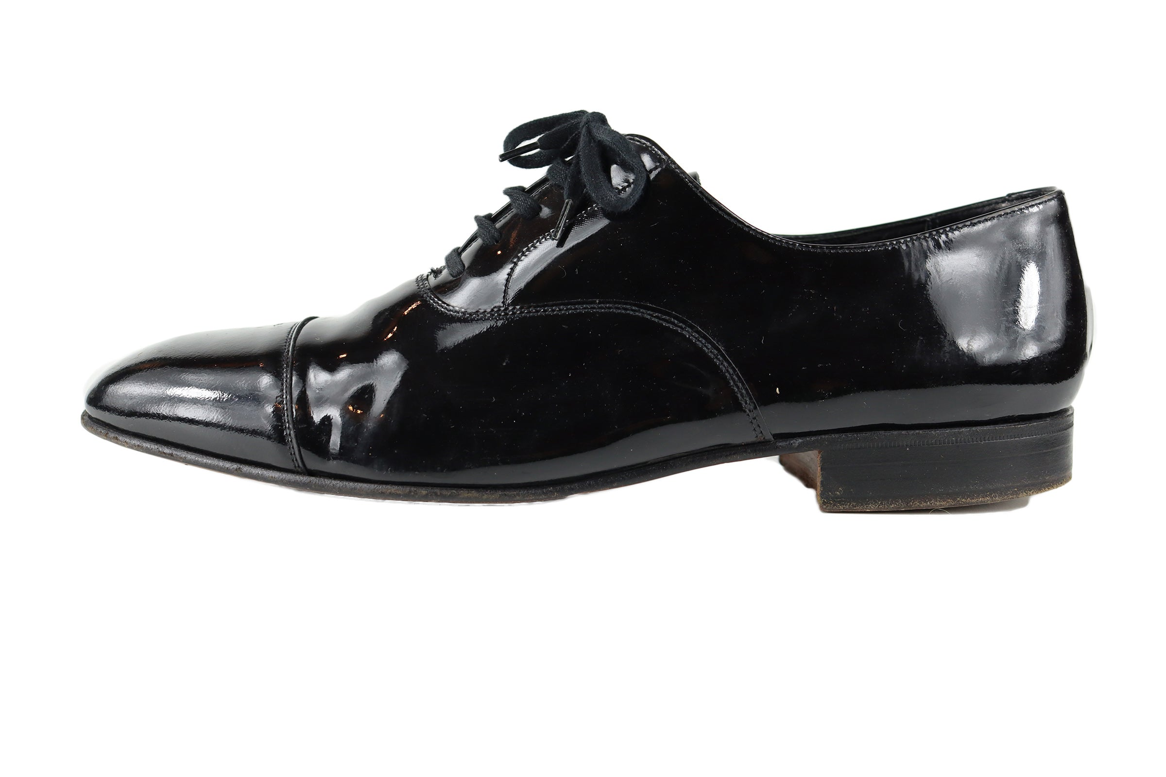 Crockett & Jones Black Patent Leather Oxford Men's Shoes Size 44 (EU) 10 (UK)