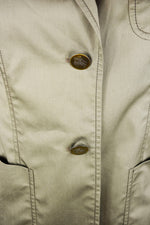 Burberry Khaki Blazer with Embroidered Pocket Size 40 (EU)