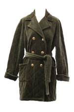 Yves Saint Laurent Vintage Military Green Coat with original buttons and belt Size 40 (EU)