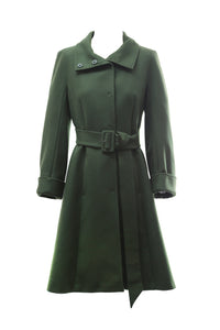 Sportmax Waisted Green Coat Size 36 (EU)