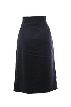 Escada by Margaretha Ley Mid Length Skirt in Dark Blue Size 42 (EU)