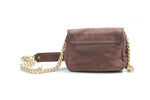 Tory Burch Suede Bag with cross body gold chain