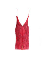 Pucci Strawberry Red Sequins Open Back Dress Size 34 (EU)