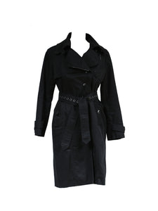 Armani Jeans Denim Trench Coat in Black Size 44 (EU)