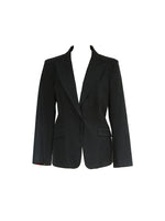 Moschino Jeans Black Blazer with Multicolour Interior