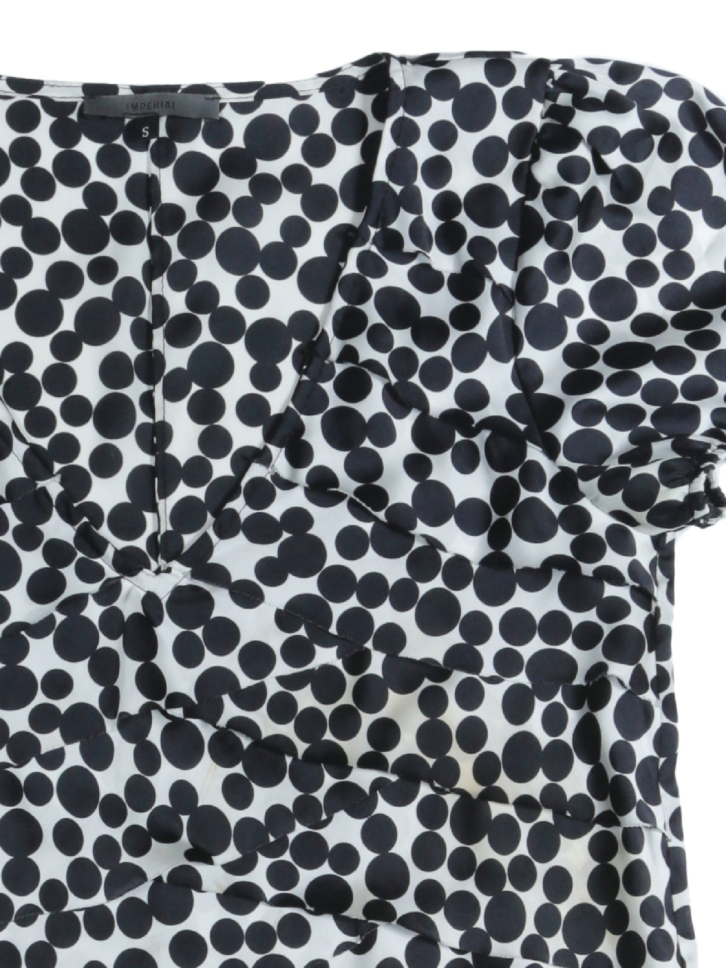 Imperial Black and White Polka Dot Dress Size S