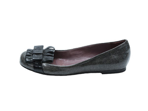 Studio Pollini Black and Brown Ballerinas Size 37 (EU)