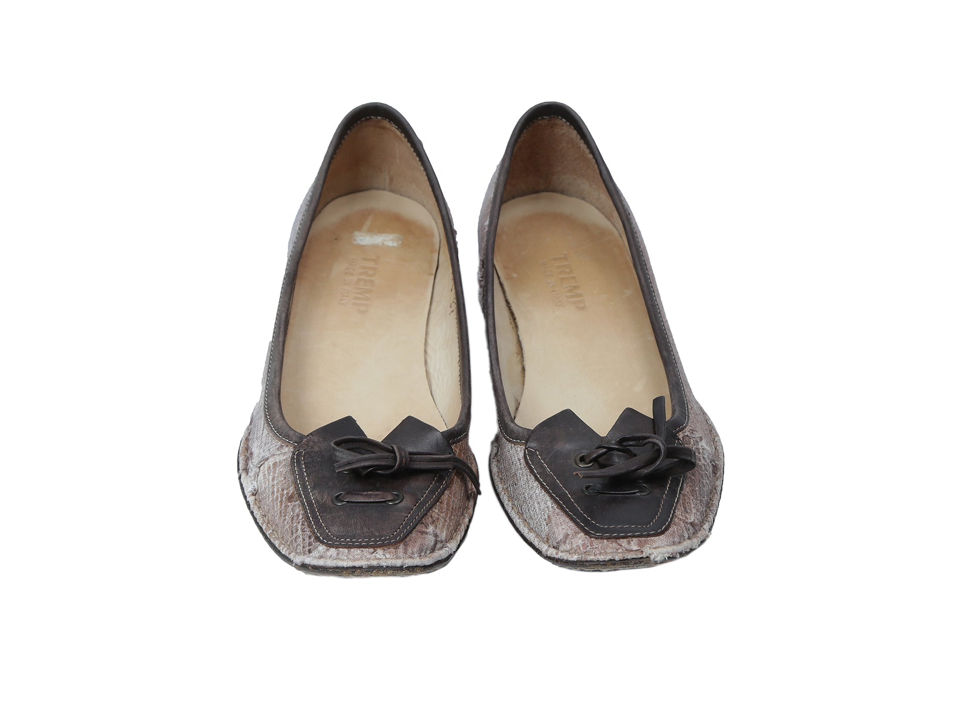 Tremp brown and beige ballerinas size 37 (EU)