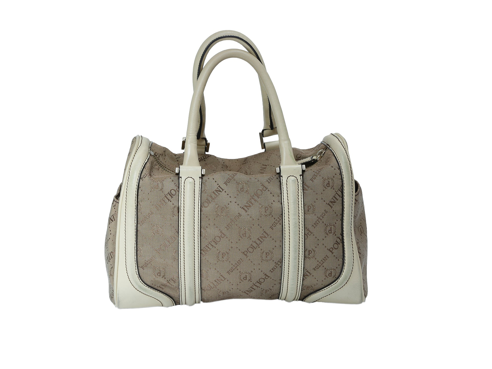 Pollini Brown and Beige Bag in Monogram Fabric