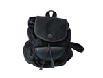Lancel Black Backpack in Canvas and Leather