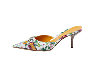 Gucci Flowered Mules with Golden Details Size 37C (EU)