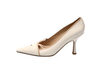 Chanel Beige and Cream Heeled Shoes Size 37,5 (EU)