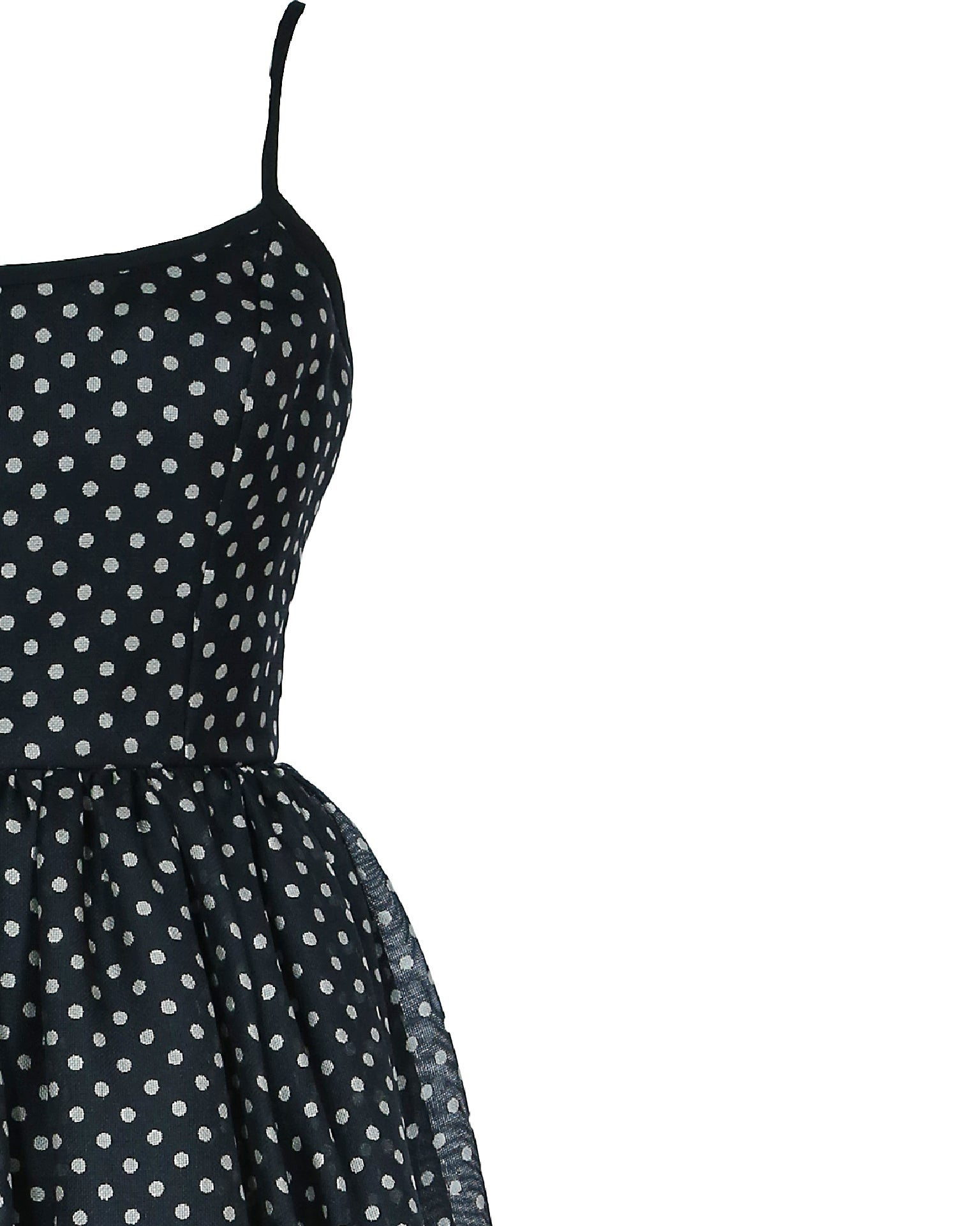 Ellen Tracy/ Linda Allard 100% Silk Black Polka Dot Dress Size 38 (EU)