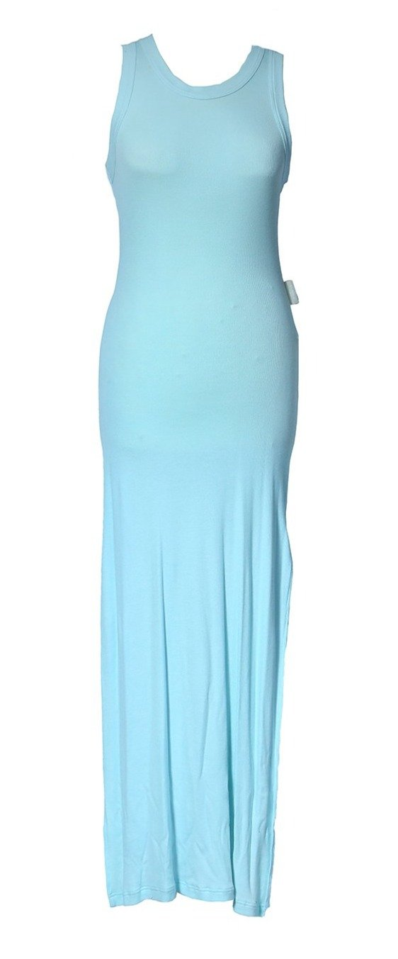 La Perla Long Ribbed Dress in Blue Size 40 (EU)