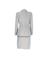 Oscar De La Renta Coat and Skirt Set With Gold and White Stripes 38/36 (EU)