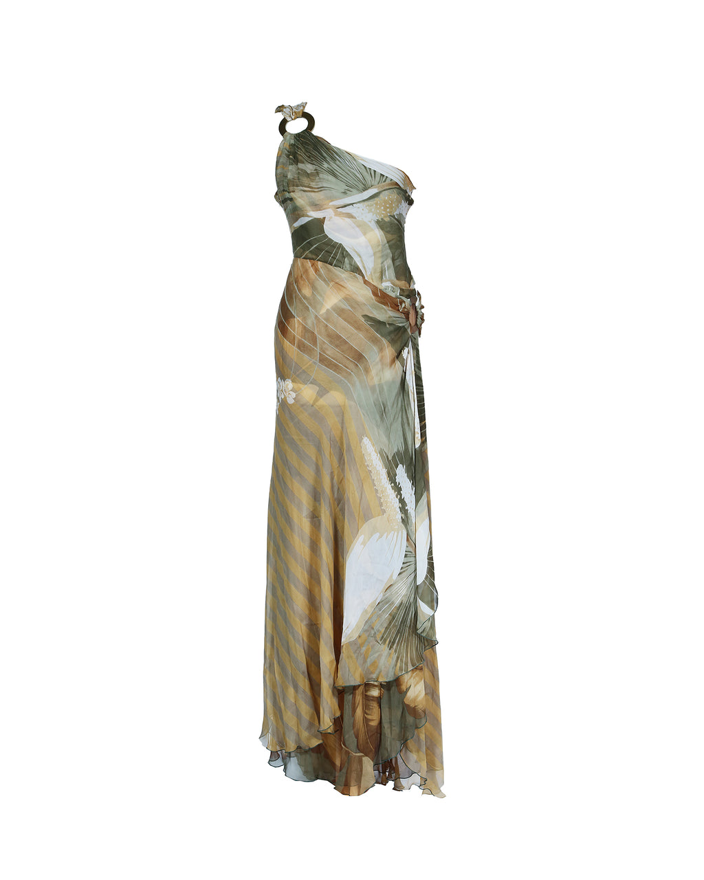 Valentino Long One Shoulder Dress Fits Size 36/38 (EU)