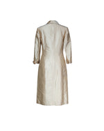 Ralph Lauren 100% Silk Long Coat in Beige Size  38 (EU)