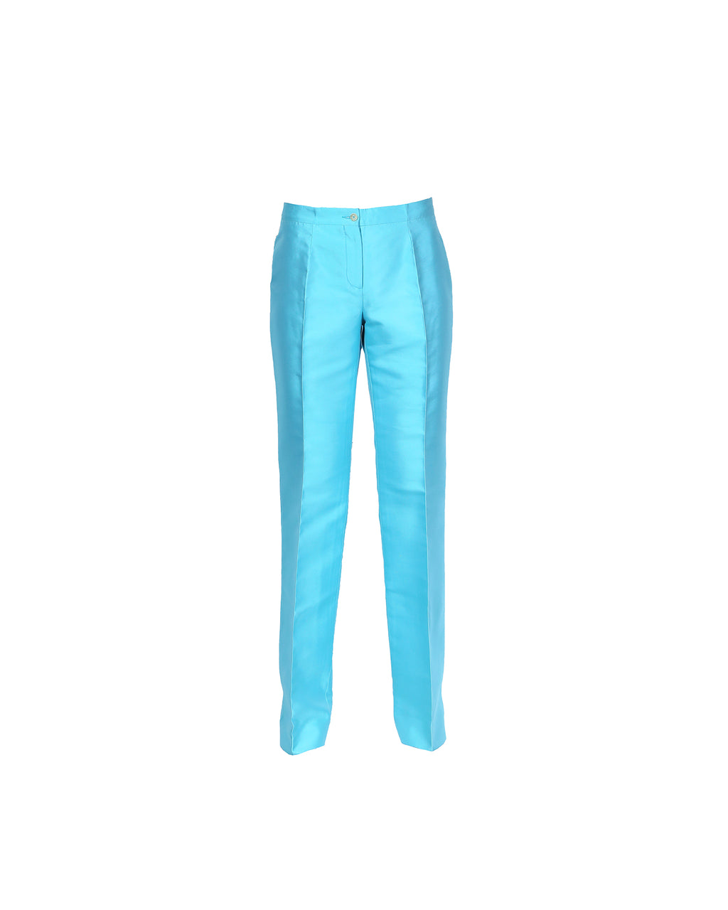 Celine Silk Trousers in Blue Size 38 (EU)