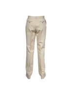 Carolina Herrera Cotton Trousers in Beige