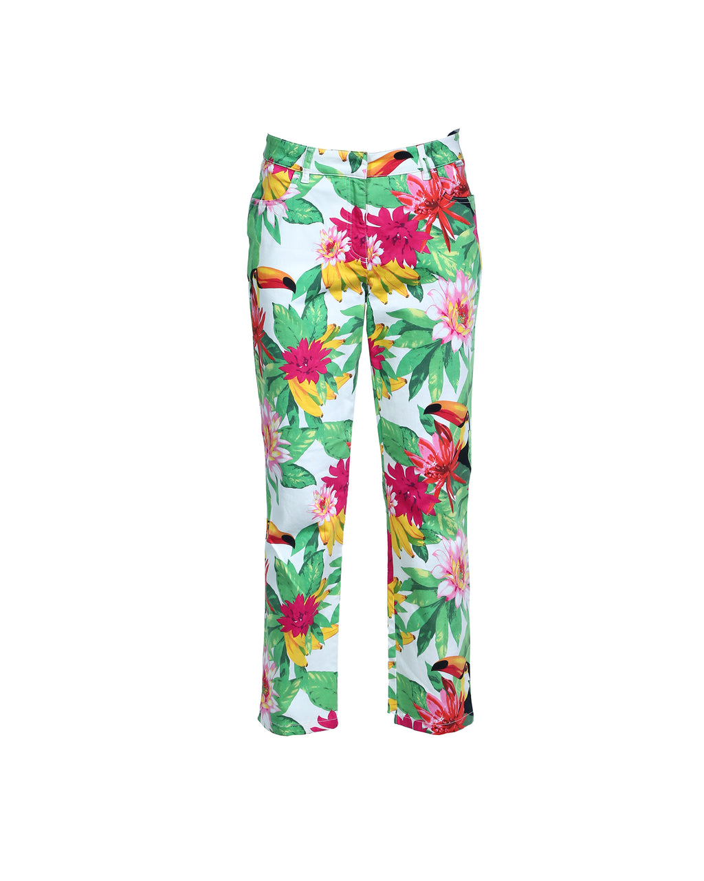 Escada Sport Tropical Print Trousers Size 38 (EU)