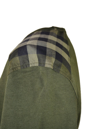 Burberry T-shirt with Check Pattern on the Shoulders