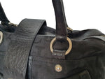 Versace Black Handbad with Monogram Fabric