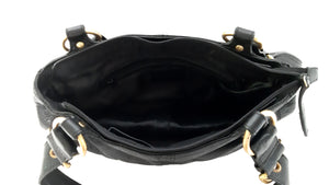 Missoni Black Handbad in Leather and Golden Details