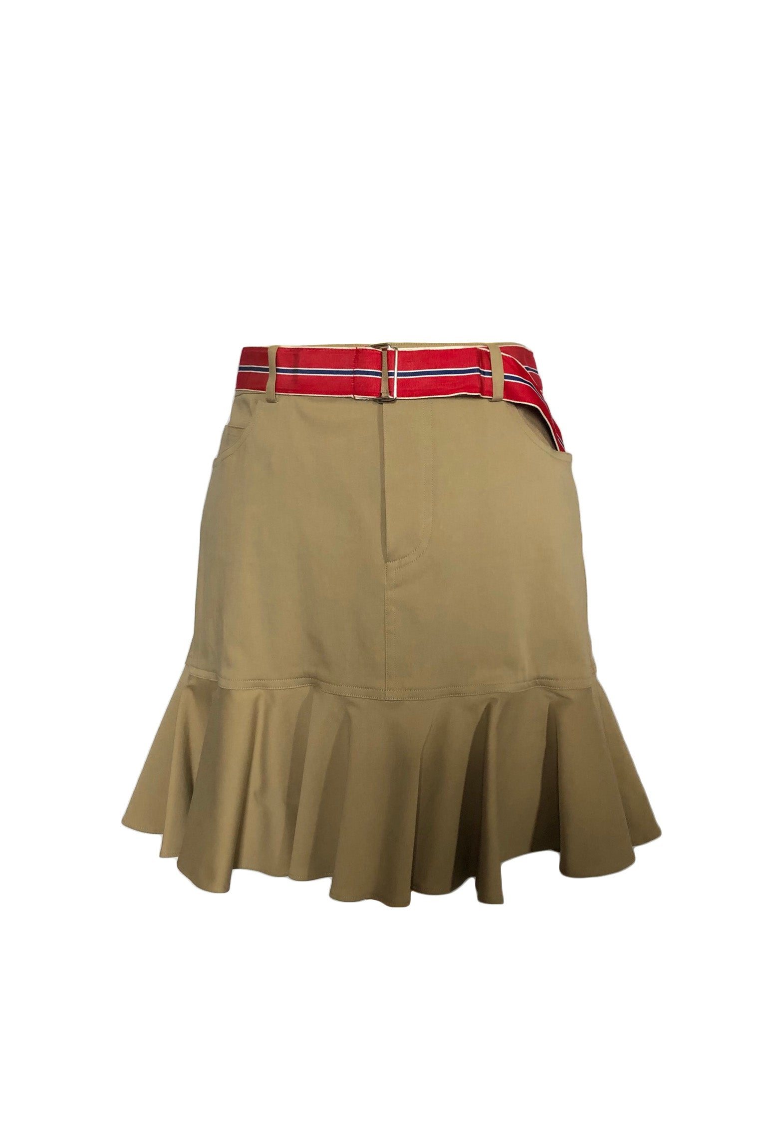 Ralph Lauren Skirt in Beige with Striped Belt Size 40 (EU)