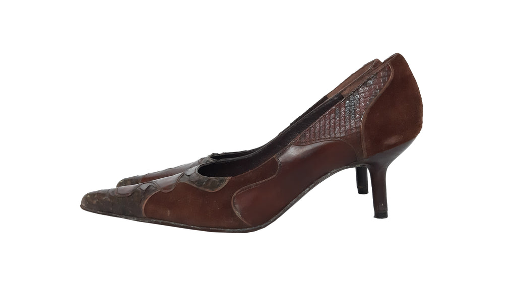 Maferley New Line Vintage Brown Heeled Shoes F (37)