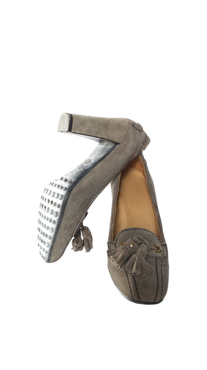 Car Shoe Grey Suede Heels Size 35 (EU)