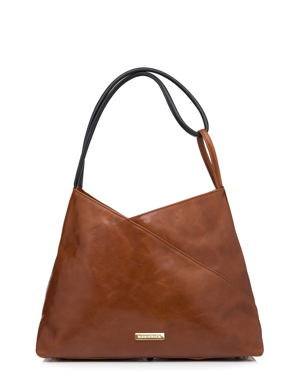 MANJERICA SASHA CHOCOLATE Vintage Inspired Tote in Vegetable Tanned Leather