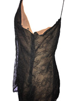 Ralph Lauren Black Lace Lined Top Size 38 (EU)