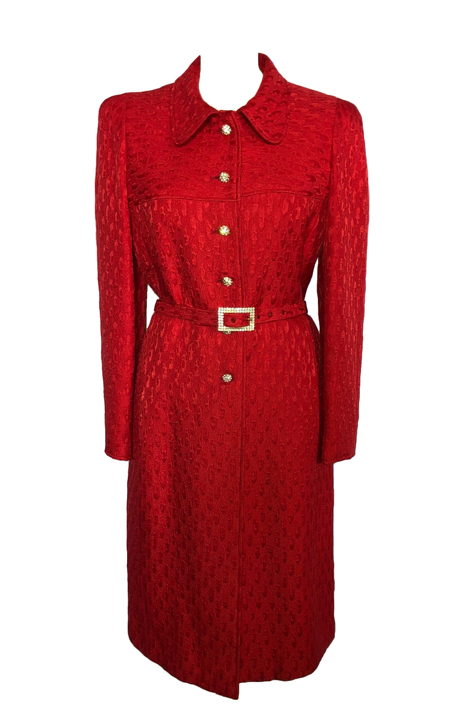 Stewart Parvin Skirt, Long Coat and Belt Set in Red Size Fits 38 (EU)